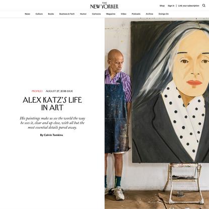 Alex Katz's Life in Art