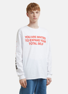 BOOT BOYZ BIZ Expand Yourself Long Sleeve T-Shirt in White