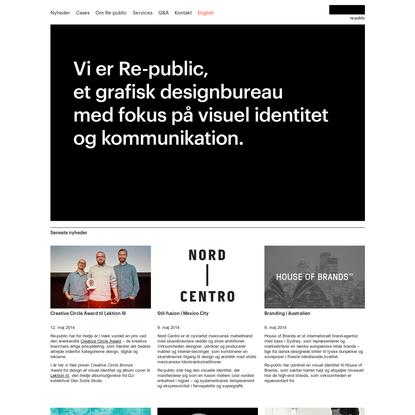 re-public - grafisk design, identitet, kommunikation