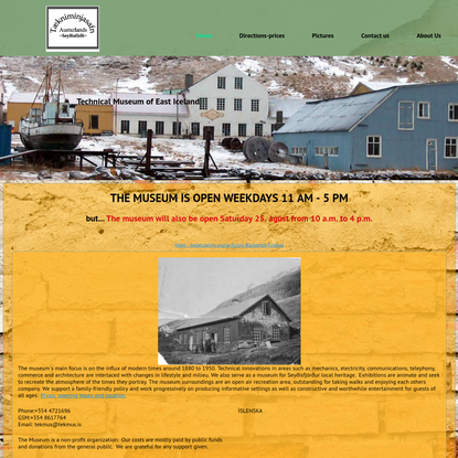 Technical Museum Seydisfjordur - history and local heritage.