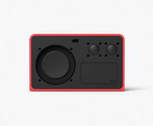 Speaker with colorful outline