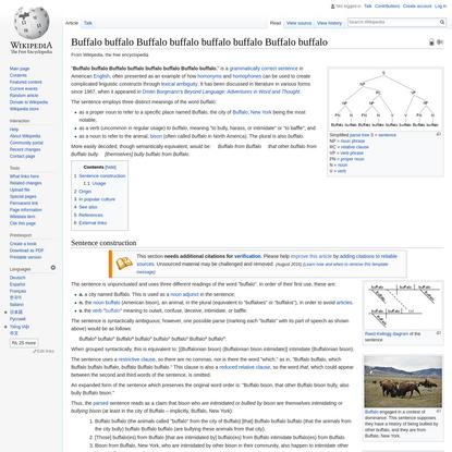 Buffalo buffalo Buffalo buffalo buffalo buffalo Buffalo buffalo - Wikipedia