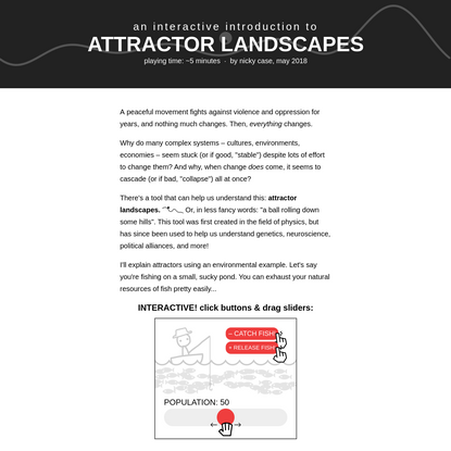 An Interactive Introduction to Attractor Landscapes