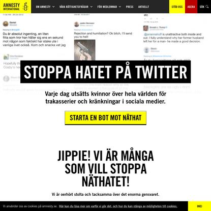 Stoppa hatet på Twitter