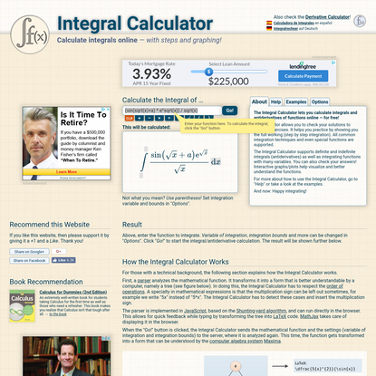 Integral Calculator