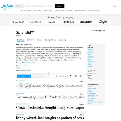 """Splendid™ - Webfont & Desktop font """" MyFonts"""