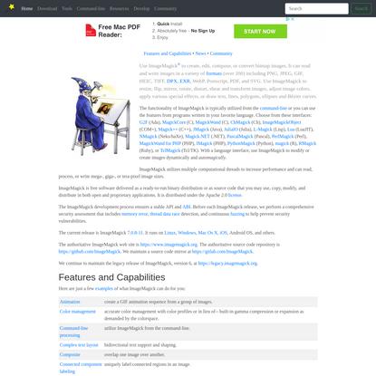 Convert, Edit, Or Compose Bitmap Images @ ImageMagick
