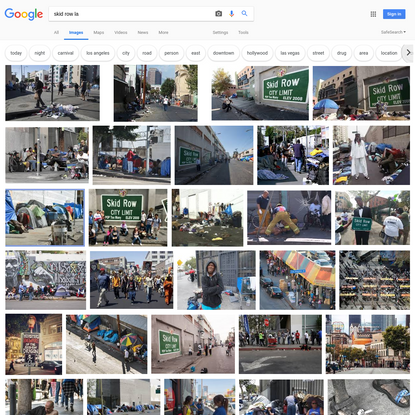 skid row la - Google Search