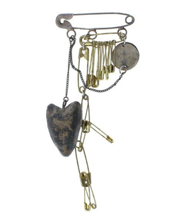 SAFETY PIN BROOCHES FROM A.F. VANDEVORST