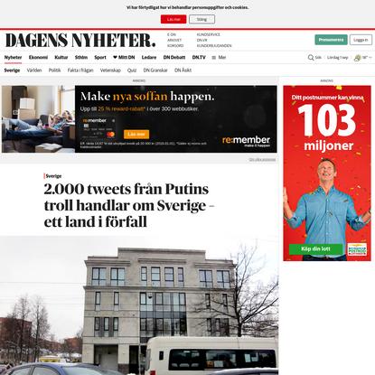 2.000 tweets från Putins troll handlar om Sverige - ett land i förfall - DN.SE