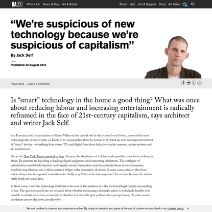 """""""We're suspicious of new technology because we're suspicious of capitalism"""" 