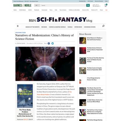Narratives of Modernization: China's History of Science Fiction