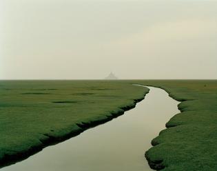 Nadav Kander, Mont Saint-Michel, Normandy, France, 2002.
