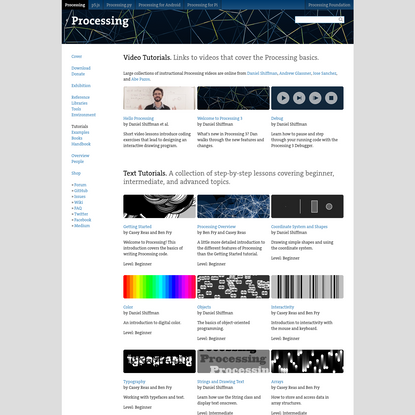 Tutorials \ Processing.org