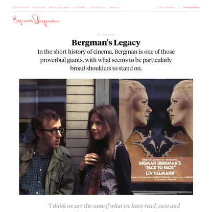 Bergman's Legacy