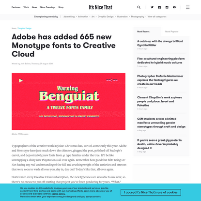 Adobe has added 665 new Monotype fonts to Creative Cloud
