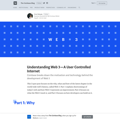 Understanding Web 3 - A User Controlled Internet - The Coinbase Blog