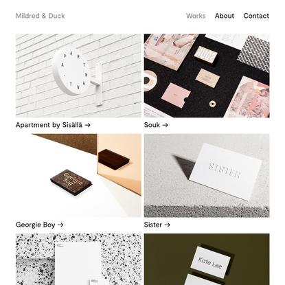 Mildred & Duck - Melbourne Graphic Design Studio