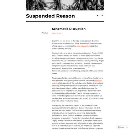 Schematic Disruption