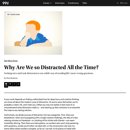 Why Are We so Distracted All the Time?