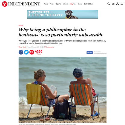 Why being a philosopher in the heatwave is so particularly unbearable