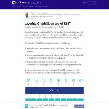 Layering GraphQL on top of REST - Apollo GraphQL