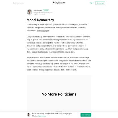 Model Democracy - Jonathan Nash - Medium