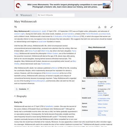 Mary Wollstonecraft - Wikipedia