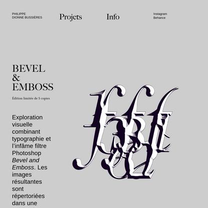 Bevel & Emboss - PDB - Design graphique