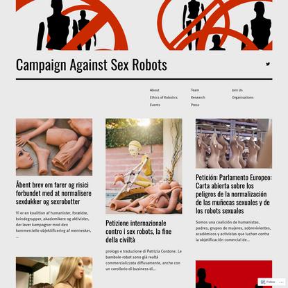 Campaign Against Sex Robots