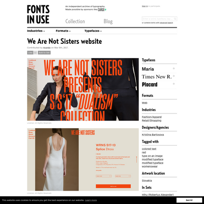 We Are Not Sisters website