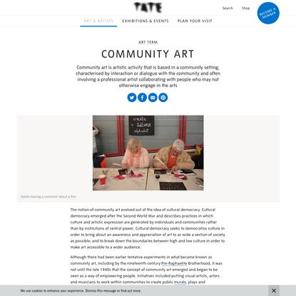 Community art - Art Term   Tate