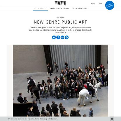New genre public art - Art Term | Tate