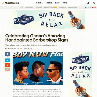 Celebrating Ghana's Amazing Handpainted Barbershop Signs