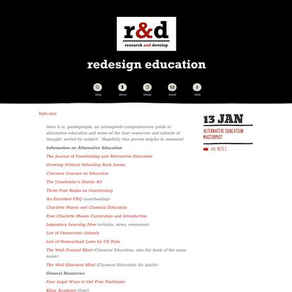 R&D Weblog