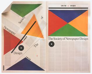 Milton Glaser   Society Of Newspaper Design, 1989