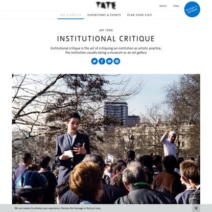 Institutional critique - Art Term | Tate