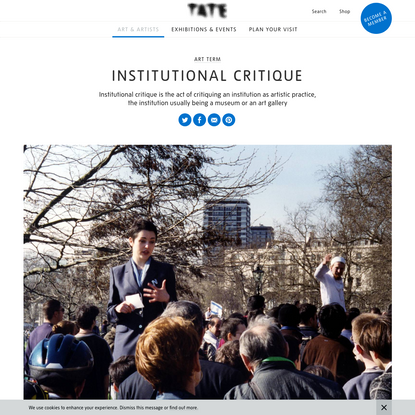 Institutional critique - Art Term | Tate