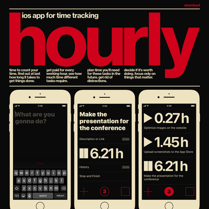 hourly, ios app for time tracking