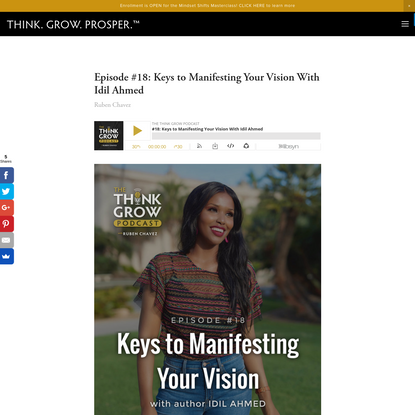 Episode #18: Keys to Manifesting Your Vision With Idil Ahmed