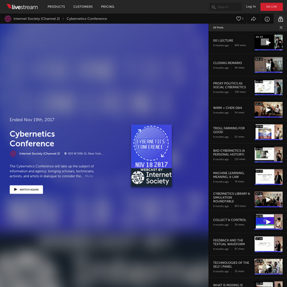 Cybernetics Conference by Internet Society (Channel 2)