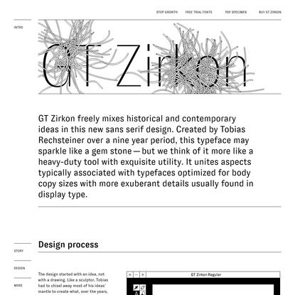 GT Zirkon Typeface