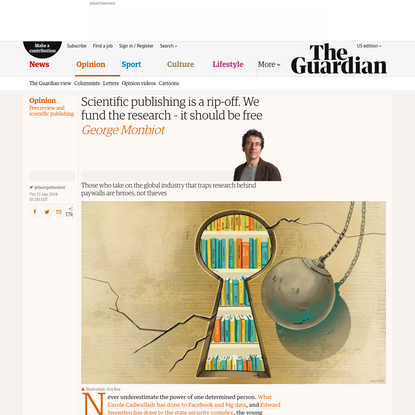 Scientific publishing is a rip-off. We fund the research - it should be free | George Monbiot