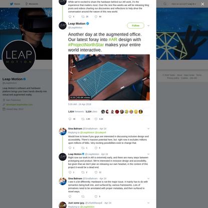 Leap Motion on Twitter
