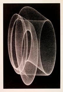 Herbert W. Franke, Analog-Grafik D2 (Dance of the Electrons), 1970