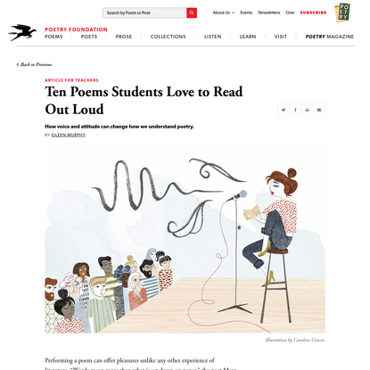 Ten Poems Students Love to Read Out Loud by Eileen Murphy
