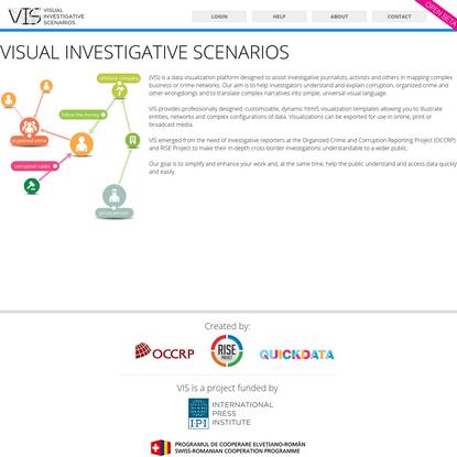 VIS. Visual Investigative Scenarios platform: About