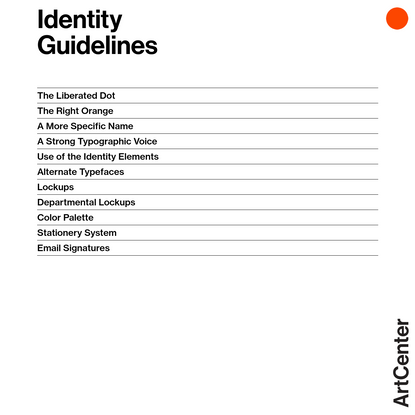 Identity Guidelines | ArtCenter Identity | ArtCenter College of Design