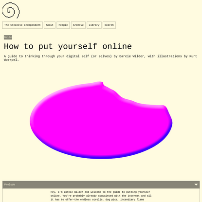 How to put yourself online