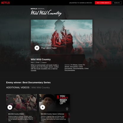 Wild Wild Country | Netflix Official Site